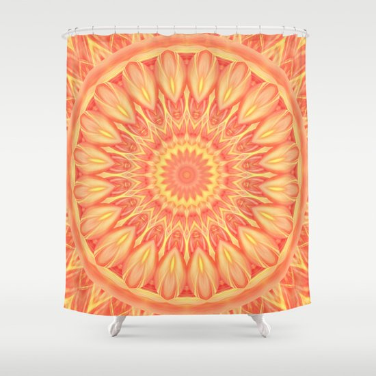 Mandala Flower Orange No 1 Shower Curtain By Christine Baessler Society6