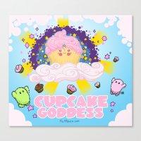 Cupcake Goddess Canvas Print