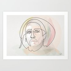One line B.Marley Art Print