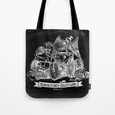 Yikes Bikes! [On Black] Tote Bag