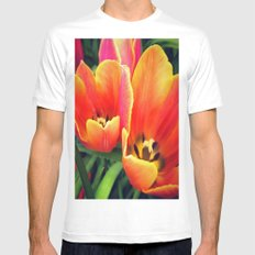 Coral Tulips in Bloom Mens Fitted Tee White SMALL