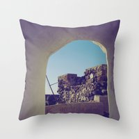 Santorini Walkway IV Throw Pillow