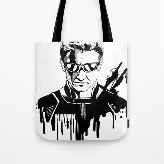 Avengers in Ink: Hawkeye Tote Bag