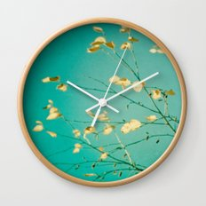 Sweet Little Autumn Leaves Wall Clock
