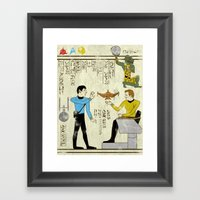 Hero-glyphics: Prime Directive Framed Art Print