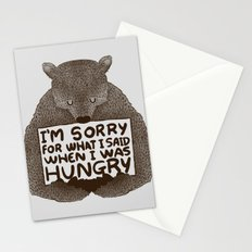 I'm Sorry For What I Said When I Was Hungry Stationery Cards
