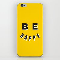 Be Happy Smiley iPhone & iPod Skin