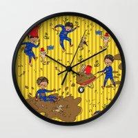 Worm Alert Wall Clock