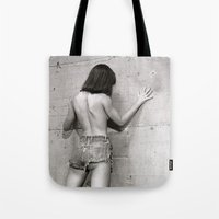 Wall flower girl Tote Bag