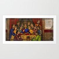 JC: The Last Supper Art Print