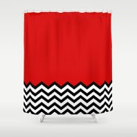 Black Lodge Dreams (Twin… Shower Curtain