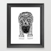 Jaw Lock Framed Art Print