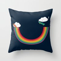 Rainbow Halfpipe Throw Pillow