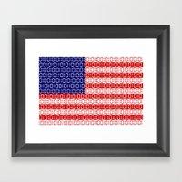Digital Flag (USA) Framed Art Print