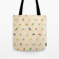 Las Frutas y Verduras de Latinoamerica Tote Bag
