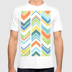 Chevron SMALL Mens Fitted Tee White