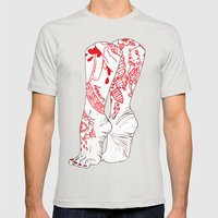 Amour Mens Fitted Tee Silver SMALL