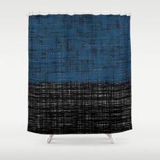 platno (blue) Shower Curtain