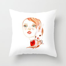 Real Beauty is without Cruelty Throw Pillow