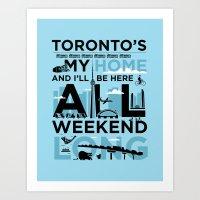 Toronto's My Home City P… Art Print