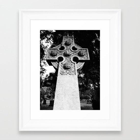 Celtic Grave Framed Art Print