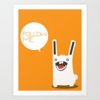 Art Print featuring Follow The White Rabbit by Volkan Dalyan