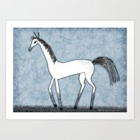 SILLY HORSE Art Print