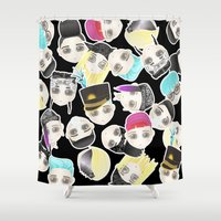 BIGBANG Collage (Black) Shower Curtain