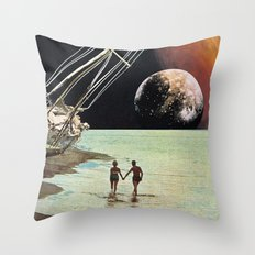 Set Sail for the Stars Throw Pillow