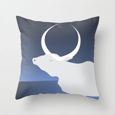 the moon landed softly on her head and stayed there...  Throw Pillow