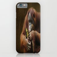 iPhone & iPod Case featuring Orangutan and Butterfly by TaLins