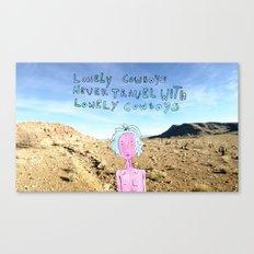 Lonely Cowboys Canvas Print