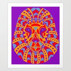 Abstract Lion Design #8 Art Print