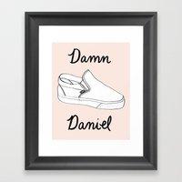 Damn Daniel Framed Art Print