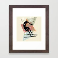 Skier Framed Art Print