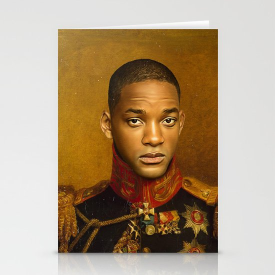 Will Smith - replaceface Stationery Card