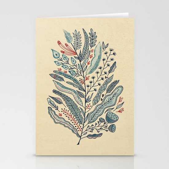 Turning Over A New Leaf Stationery Card
