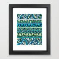 Blue Green Patterned Str… Framed Art Print