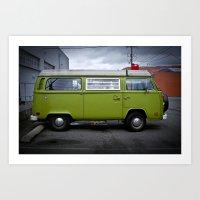 industrial strength green (Curbside VW photo series) Art Print
