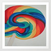 candy Art Prints featuring Candy  by ArtSchool