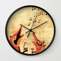 Fox fun Wall Clock