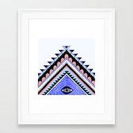Tribal Eye Framed Art Print