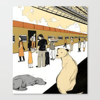 Train Dogs Canvas Print