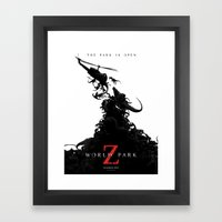World Park Z Framed Art Print