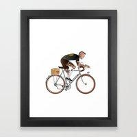 Bike Driver Framed Art Print