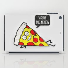 Funny & Cute Delicious Pizza Slice wants only you! iPad Case