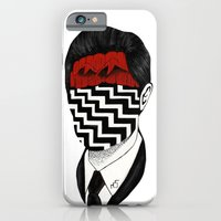 iPhone & iPod Case featuring Twin Peaks by Black Neon