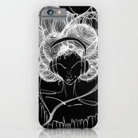 Black and White Headphones iPhone 6 Slim Case