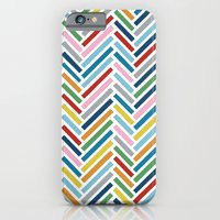 iPhone & iPod Case featuring Herringbone Colour Zoom by Project M
