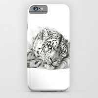 iPhone & iPod Case featuring Pensive Snow Leopard G2011-011 by S-Schukina
